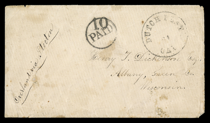 BUTTERFIELD OVERLAND MAIL-COACH POSTAL HISTORY PIKE/'S PEAK RAILROAD ATCHISON